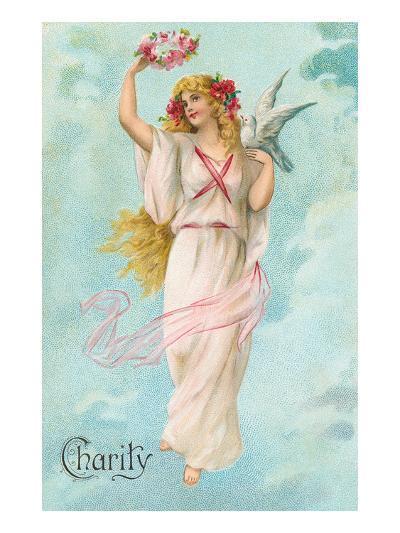 Charity as Maiden in Greek Garb--Art Print