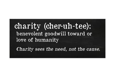 Charity Definition-Anna Quach-Art Print