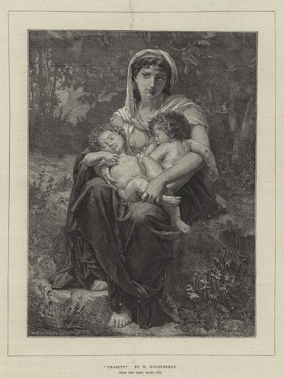 Charity, from the Paris Salon, 1874-William-Adolphe Bouguereau-Giclee Print