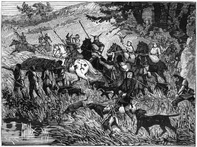 Charlemage Hunting, 8th-9th Century (1882-188)- Serm-Giclee Print