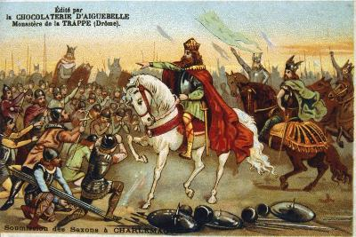 Charlemagne, King of the Franks, Accepting the Submission of the Saxons, 777--Giclee Print