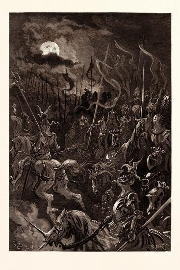 Charlemagne's Vision-Gustave Dore-Giclee Print