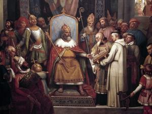 Charlemagne Surrounded by His Principal Officers by Jules Laure