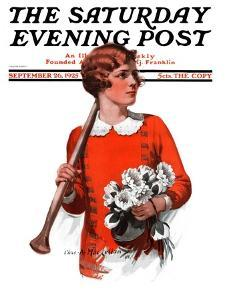 """""""Oars and Flowers,"""" Saturday Evening Post Cover, September 26, 1925 by Charles A. MacLellan"""