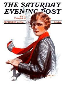 """""""Staten Island Ferry,"""" Saturday Evening Post Cover, September 13, 1924 by Charles A. MacLellan"""