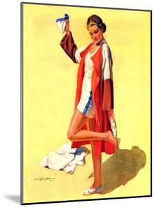 """""""Woman in Beach Outfit,""""August 11, 1934 by Charles A. MacLellan"""