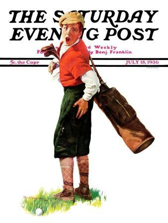 """""""Wounded Caddy,"""" Saturday Evening Post Cover, July 18, 1936"""