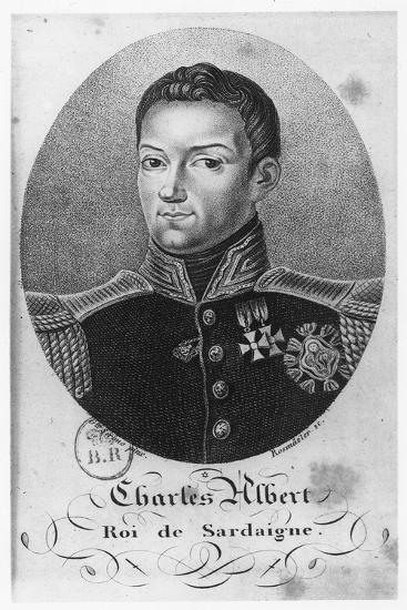 Charles Albert, King of Sardinia--Giclee Print