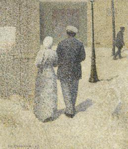 Couple dans la rue by Charles Angrand