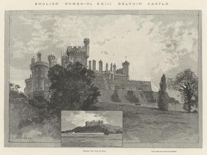 Belvoir Castle by Charles Auguste Loye