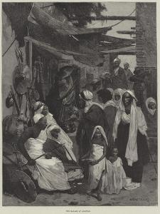 The Bazaar at Assouan by Charles Auguste Loye