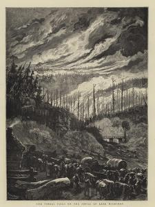 The Forest Fires on the Shore of Lake Michigan by Charles Auguste Loye