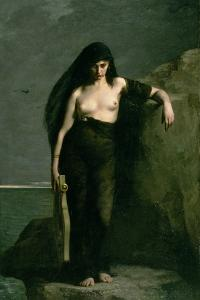 Sappho, 1877 by Charles Auguste Mengin