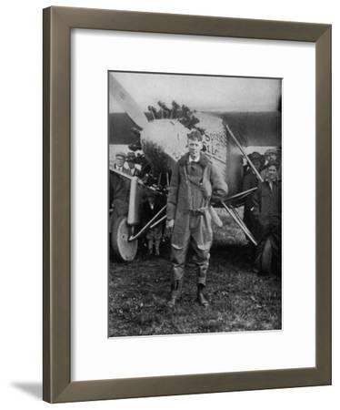 Charles Augustus Lindbergh American Aviator in Flying Clothes