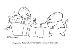 """""""Ah, Louis, I can tell already that it's going to be terrific."""" - New Yorker Cartoon by Charles Barsotti"""