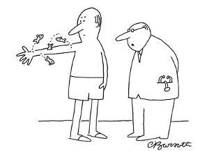 """Arm fish?insurance won't cover that."" - New Yorker Cartoon by Charles Barsotti"
