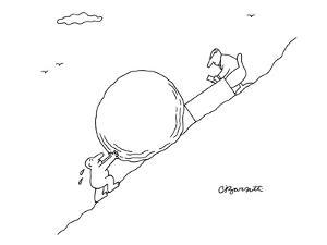 Business Sisyphus - New Yorker Cartoon by Charles Barsotti