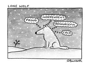 Lone Wolf - New Yorker Cartoon by Charles Barsotti