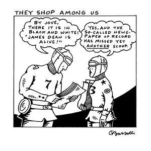 They Shop Among Us - New Yorker Cartoon by Charles Barsotti