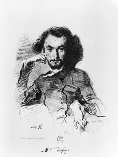 Charles Baudelaire (1821-67) 1844-Emile Deroy-Giclee Print