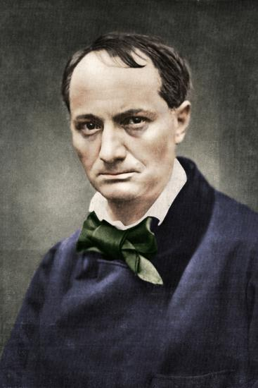 Charles Baudelaire, influential French poet, critic and translator, mid-19th century-Unknown-Photographic Print