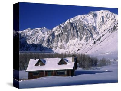 Cabin in Snow, Convict Lake, Sierra NV Mts, CA