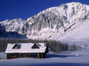 Cabin in Snow, Convict Lake, Sierra NV Mts, CA by Charles Benes