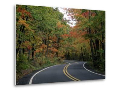 Empty Road Surrounded by Fall Foliage, Upper Mi