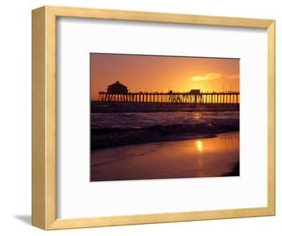 Ocean Pier at Sunset, Huntington Beach, CA