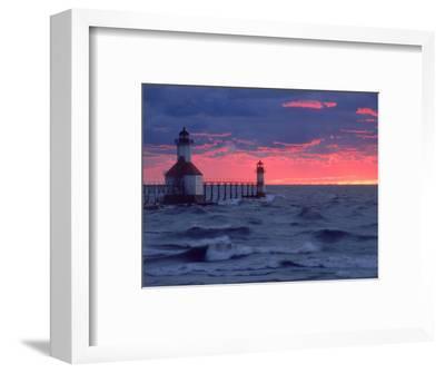 Sunset, Lighthouse, Benton Harbor, MI