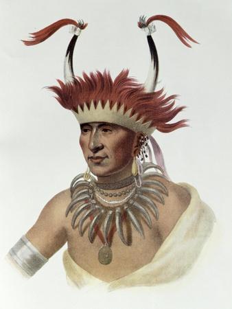 L'Ietan, Oto Half-Chief, 1821, The Indian Tribes of North America, Vol.1