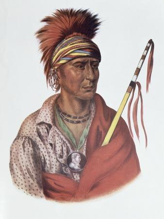Notchimine, an Iowa Chief, The Indian Tribes of North America, c.1837