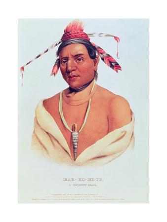 Portrait of Mar-Ko-Me-Te, a Menomene Brave, 1838