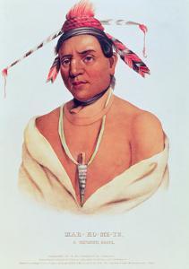 Portrait of Mar-Ko-Me-Te, a Menomene Brave, 1838 by Charles Bird King