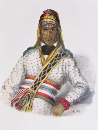 Yoholo-Micco, a Creek Chief, 1825, Illustration from 'The Indian Tribes of North America, Vol.2',…