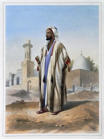 A fellah dressed in a haba, 1848