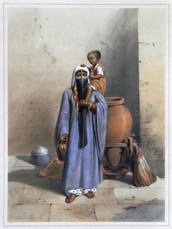 Fellah woman and child, 1848
