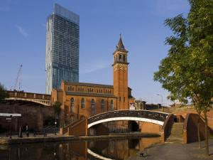301 Deansgate, St. George's Church, Castlefield Canal, Manchester, England, United Kingdom, Europe by Charles Bowman