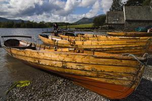 Boats, Derwentwater, Lake District National Park, Cumbria, England, United Kingdom, Europe by Charles Bowman