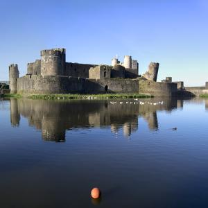 Caerphilly Castle by Charles Bowman