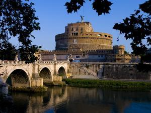 Castello Sant Angelo and River Tiber, Rome, Lazio, Italy, Europe by Charles Bowman