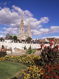 Chartres and Cathedral, Eure-Et-Loir, Centre, France by Charles Bowman