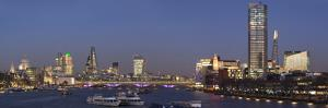 City and Blackfriars panorama with The Shard, London, England, United Kingdom, Europe by Charles Bowman