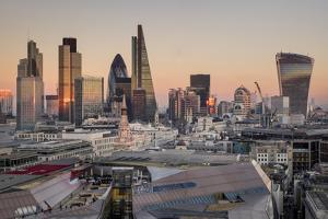 City of London skyline from St. Pauls Cathedral, London, England, United Kingdom, Europe by Charles Bowman
