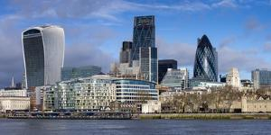 City of London Square Mile panorama, London, England, United Kingdom, Europe by Charles Bowman