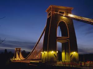 Clifton Suspension Bridge, Bristol, Avon, England, UK, Europe by Charles Bowman