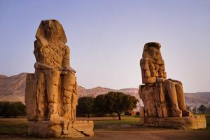 Colossi Of Memnon In Egypt by Charles Bowman
