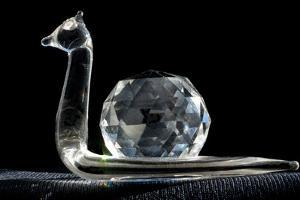 Crystal Snail Ornament by Charles Bowman
