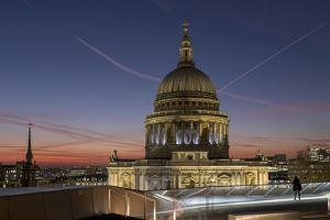 Dome of St. Pauls Cathedral from One New Change shopping mall, London, England, United Kingdom, Eur by Charles Bowman