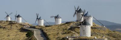 Don Quixote Windmill Panorama, Consuegra, Castile-La Mancha, Spain, Europe
